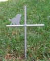 Cavalier King Charles Spaniel Pet Memorial Cross Garden Stake - Metal Yard Art - Metal Garden Art - Metal Cross - Design 1