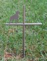 Boxer Dog Pet Memorial Cross Garden Stake - Metal Yard Art - Metal Garden Art - Metal Cross - Design 3