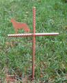 German Shepherd Pet Memorial Cross Garden Stake - Metal Yard Art - Metal Garden Art - Metal Cross - Design 1