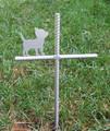 Chihuahua Pet Memorial Cross Garden Stake - Metal Yard Art - Metal Garden Art - Metal Cross - Design 2