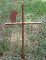 Cairn Terrier Pet Memorial Cross Garden Stake - Metal Yard Art - Metal Garden Art - Metal Cross - Design 1