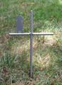 Golden Retriever Pet Memorial Cross Garden Stake - Metal Yard Art - Metal Garden Art - Metal Cross - Design 1