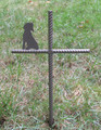 Beagle Pet Memorial Cross Garden Stake - Metal Yard Art - Metal Garden Art - Metal Cross - Design 1