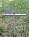 Corgi Pet Memorial Cross Garden Stake - Metal Yard Art - Metal Garden Art - Metal Cross - Design 2