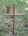 Chihuahua Pet Memorial Cross Garden Stake - Metal Yard Art - Metal Garden Art - Metal Cross - Design 1