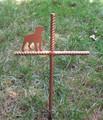 Rottweiler Pet Memorial Cross Garden Stake - Metal Yard Art - Metal Garden Art - Metal Cross - Design 1