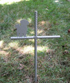 Shih Tzu Pet Memorial Cross Garden Stake - Metal Yard Art - Metal Garden Art - Metal Cross - Design 1