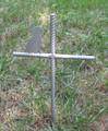 Jack Russell Terrier Pet Memorial Cross Garden Stake - Metal Yard Art - Metal Garden Art - Metal Cross - Design 1