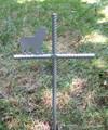 Cocker Spaniel Pet Memorial Cross Garden Stake - Metal Yard Art - Metal Garden Art - Metal Cross - Design 1