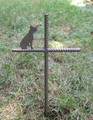 Boxer Dog Pet Memorial Cross Garden Stake - Metal Yard Art - Metal Garden Art - Metal Cross - Design 2