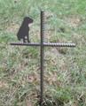 Boxer Dog Pet Memorial Cross Garden Stake - Metal Yard Art - Metal Garden Art - Metal Cross - Design 4
