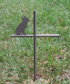 Boston Terrier Pet Memorial Cross Garden Stake - Metal Yard Art - Metal Garden Art - Metal Cross - Design 2