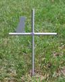 Labrador Retriever Pet Memorial Cross Garden Stake - Metal Yard Art - Metal Garden Art - Metal Cross - Design 3