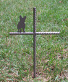 French Bulldog Pet Memorial Cross Garden Stake - Metal Yard Art - Metal Garden Art - Metal Cross - Design 1