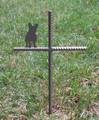French Bulldog Pet Memorial Cross Garden Stake - Metal Yard Art - Metal Garden Art - Metal Cross - Design 1