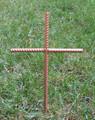 Pet Memorial Cross Garden Stake - Metal Yard Art - Metal Garden Art - Metal Cross - Design 1