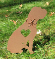 Painted Boxer Dog Metal Garden Stake - Metal Yard Art - Metal Garden Art - Pet Memorial