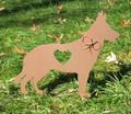 Painted German Shepherd Dog Metal Garden Stake - Metal Yard Art - Metal Garden Art - Pet Memorial - 1