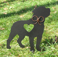 Painted Rottweiler Dog Metal Garden Stake - Metal Yard Art - Metal Garden Art - Pet Memorial - 1