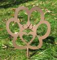 Painted Dog Paw Metal Garden Stake - Metal Yard Art - Metal Garden Art - Pet Memorial - 1