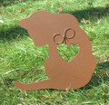 Painted Cat Metal Garden Stake - Metal Yard Art - Metal Garden Art - Pet Memorial - 2