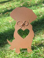 Painted Golden Retriever Dog Metal Garden Stake - Metal Yard Art - Metal Garden Art - Pet Memorial - 1