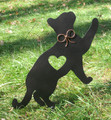 Painted Cat Metal Garden Stake - Metal Yard Art - Metal Garden Art - Pet Memorial - 3