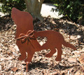 Basset Hound Dog Metal Garden Stake - Metal Yard Art - Metal Garden Art - Pet Memorial