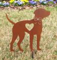 Rhodesian Ridgeback Dog Metal Garden Stake - Metal Yard Art - Metal Garden Art - Pet Memorial 1