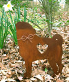 Pug Dog Metal Garden Stake - Metal Yard Art - Metal Garden Art - Pet Memorial
