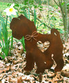 Schnauzer Dog Metal Garden Stake - Metal Yard Art - Metal Garden Art - Pet Memorial
