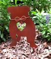 English Bulldog Dog Metal Garden Stake - Metal Yard Art - Metal Garden Art - Pet Memorial