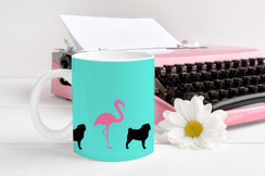Flamingo Pug Coffee Mug