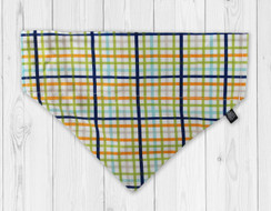 Andy Plaid Slip-On Dog Bandana