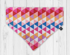 Pink Triangles Slip-On Dog Bandana