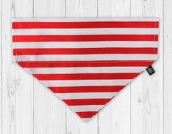Candy Cane Stripe Slip-On Dog Bandana