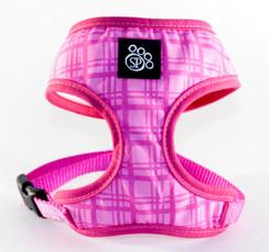 Pink Plaid Dog Harness