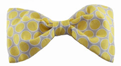Dog Bow Tie Accessory in Yellow + Gray Dot