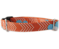 Orange Splash Dog Collar