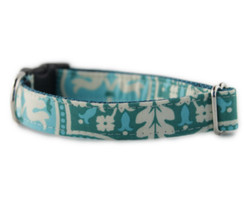 Green Trellis Dog Collar