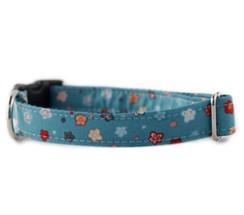 Fleur Bleu Dog Collar