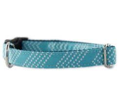 Aqua Splash Chevron Dog Collar