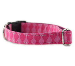 Pink Waves Dog Collar