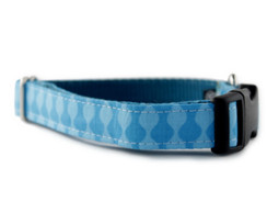 Blue Waves Dog Collar