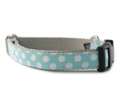 Ice Blue Dot Dog Collar