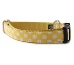 Lemon Dot Dog Collar