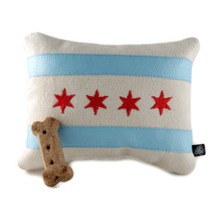 Chicago Flag Embroidered Dog Toy