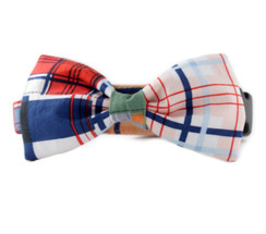 Mad About Plaid Bow Tie Dog Collar