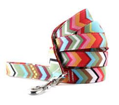 Rainbow Chevron Dog Leash