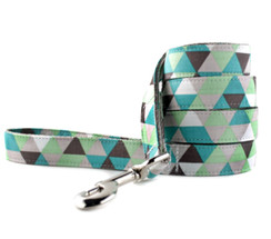 Taupe and Green Diamond Dog Leash